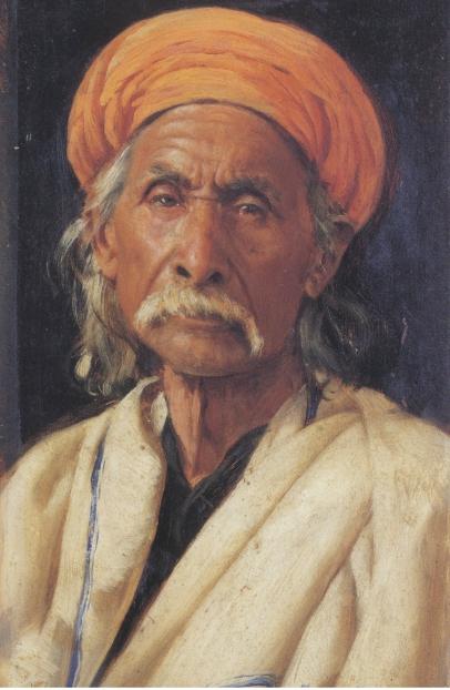 Fig. 2: Swoboda, Babu Shivanand Puri, 1886-88, 26 x 15.9cm, Royal collection, © Her Majesty Queen Elizabeth II.