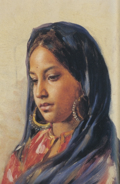 Fig. 3: Swoboda, Gulzar 1886-88, oil on panel, 29.8 x 19.1 cm, Royal collection, © Her Majesty Queen Elizabeth II.